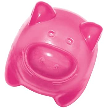 KONG Squeezz Jels Pig Squeaking Dog Toy, Medium (Colors Vary)