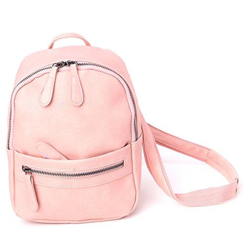 JAGENIE Bolso mochila para mujer beige beige Rosa