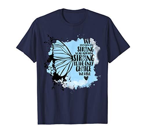(Prostate Cancer Awareness Butterfly T-shirt Light Blue)