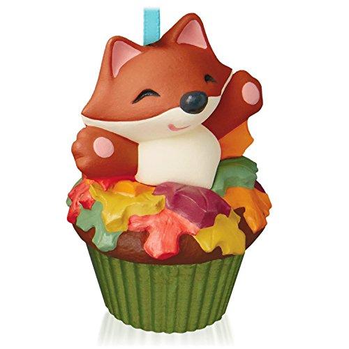 Sly and Sweet Fox Keepsake Cupcake Ornament 2015 Hallmark