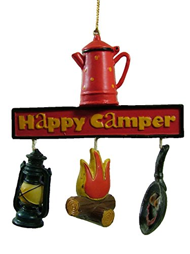 Campfire Lantern Bacon and Eggs Camping Outdoor Happy Camper Christmas Ornament