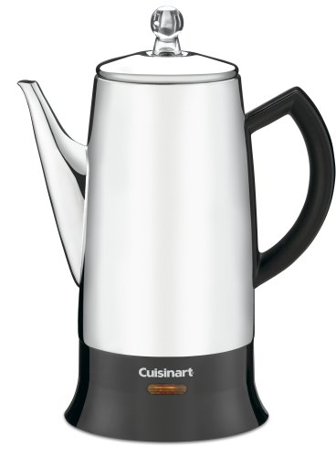 Cuisinart PRC-12FR Classic Stainless Percolator, Stainless Steel (Renewed)