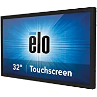 Elo Touch E326202 3243L IntelliTouch Plus 32 LCD FHD LED Open-Frame Touchmonitor, VGA/HDMI Video Interface, USB, Clear Glass, Gray