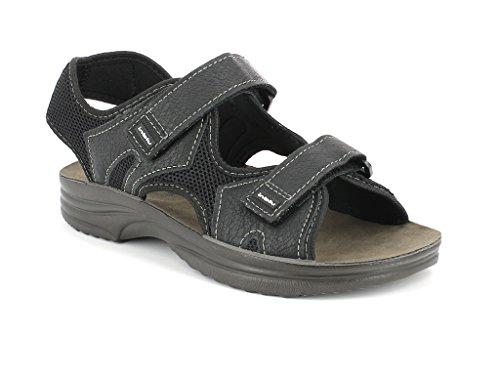 RY000024 Strappo E 44 Pelle Tessuto 40 INBLU Nero Doppio Sandalo 40 E Grigio Uomo Grigio Eco tp4q4gBFOw