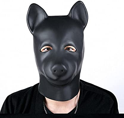 cos2you mask costume halloween hood full head face fetish adult rubber mask club accessories hood mash with the hole for mouth role play spandex leather