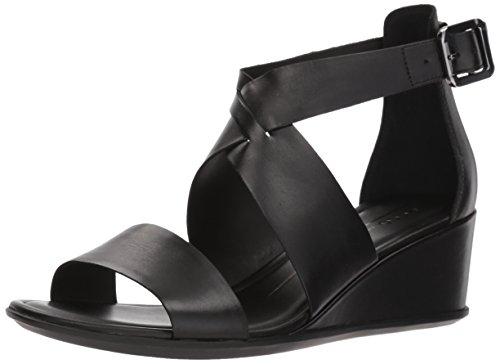 1001 Abierta Mujer Sandalias Punta Negro ECCO 35 para Shape con Black gxvHHq