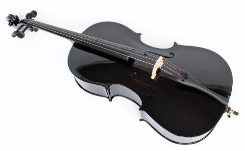 schwarzes 4/4 Cello inklusive Bogen & Tasche