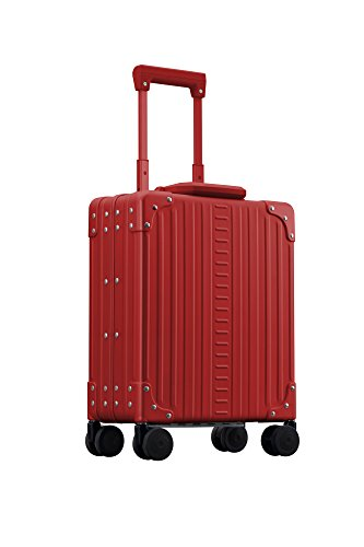 Aleon 16'' Vertical Aluminum Hardside Underseat Carry-On or Briefcase (Ruby) Red by ALEON