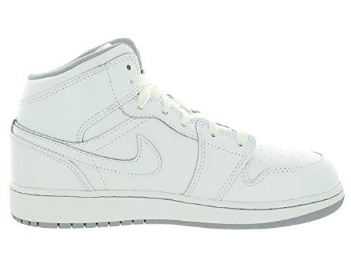 garçon Sport Air de Blanc 1 Mid Jordan BG NIKE Chaussures qFU8p