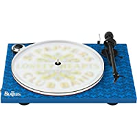 Pro-Ject Essential III Special Edition w/ Ortofon OM10 Sgt. Pepper's Turntable (Blue & White)