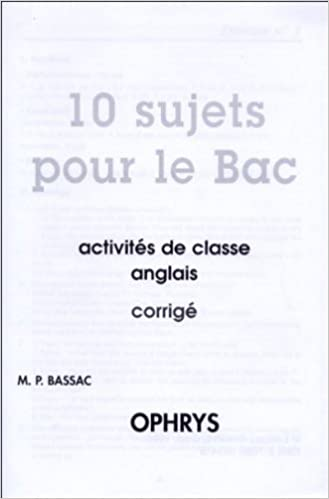 Corrige 10 Sujets pour le Bac pdf