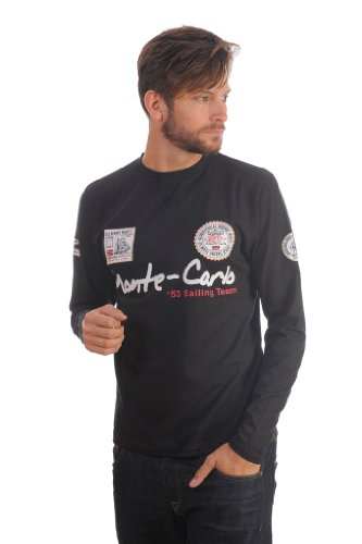 Felpa GEOGRAPHICAL NORWAY GymClass Uomo Men tascone half Zip Anapurna cappuccio Royal