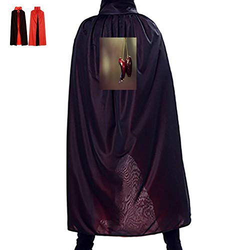 Warm season Evil Cherry Double Hooded Robes Cloak Knight Cosplay Costume 47(in) -