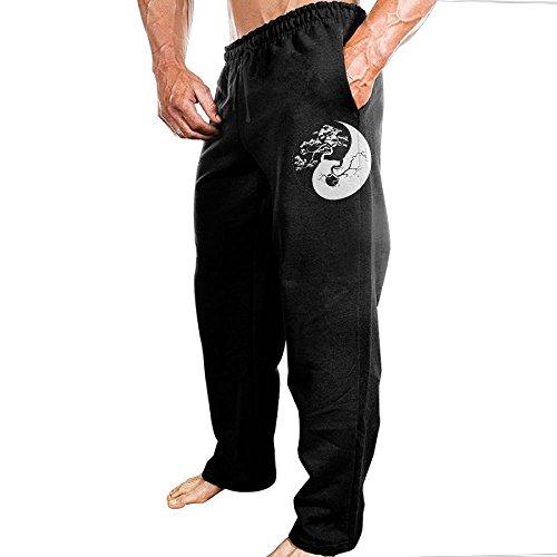 Men's Bonsai Tree On The Yin Yang Symbol-1 Jogger Sweatpants Workout Athletic Joggers Pants