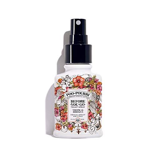 - Poo-Pourri Before-You-Go Toilet Spray 2 oz Bottle, Tropical Hibiscus Scent