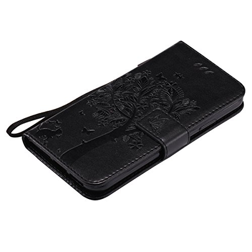 For X Wallet Black Multicolor Flower Case Cover Portfolio Butterfly Cover Case Standing Pattern For With Iphone X Cover Flip Iphone Isaken Slot Tar Leather Case Cover Housing Portable Leather Tree Cat Pu Strap dAEEqwH