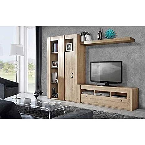 Mueble De Salón Completo, con Mueble TV + Vitrina + Estante ...