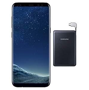 Samsung Galaxy S8+ Dual Sim - 64GB, 4G LTE,MidnightBlack with Samsung 3100mAh Power Bank