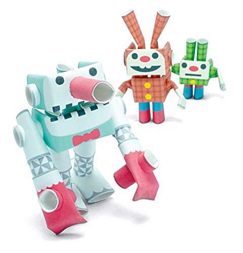 PIPEROID Snow Giant & Lop & Dwarf Paper Craft Robot kit from Japan - Snowman & Bunny Siblings (Old Package)