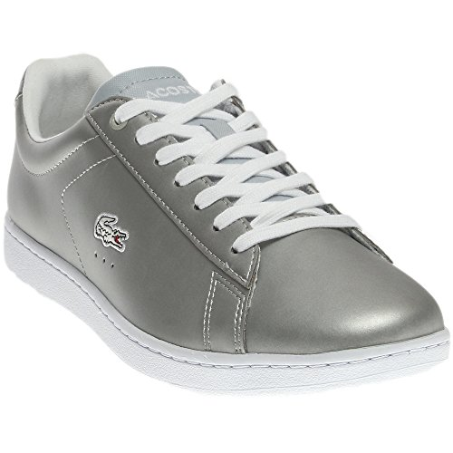 Lacoste Women's Carnaby Fashion Sneaker, Grey, 7 M US (Dress Clothing Code)