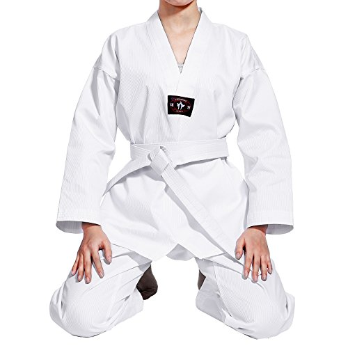 Neu Kinder Karate Anzug Renshu Taekwondoanzug kampfsport Anzug 140