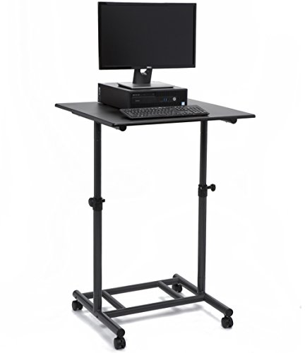 Audio-Visual Direct Ergonomic Adjustable Standing Desk - 31.5'' Wide Single Top Lockable Wheels Easy Adjust Knobs by Audio-Visual Direct