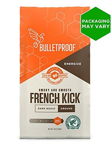 Handled Loving Cup - Bulletproof Coffee French Kick - Premium Gourmet Dark Roast Organic Beans, Certified Clean Coffee, Upgraded Ground (12 Ounces)
