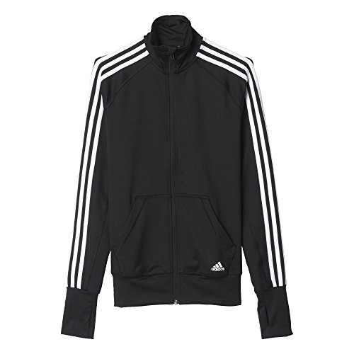 adidas Damen Trainingsjacke Basic 3-Streifen, Black/White, 2XL, AJ4865