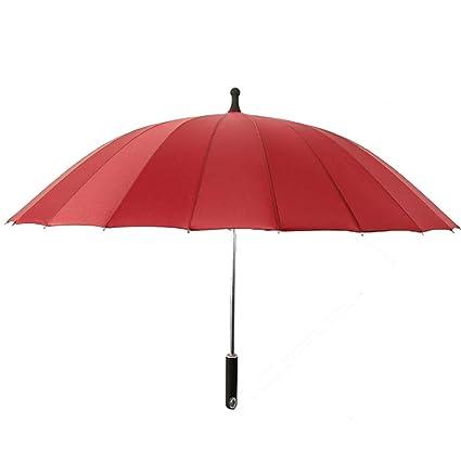Paraguas Largo Paraguas De Golf De Color Puro Para Mujer Aleación De Negocios Paraguas Largos 6