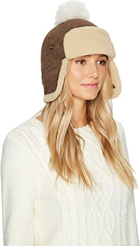 UGG Women's Pom Waterproof Sheepskin Hat Slate Curly One Size by UGG