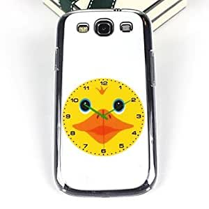 PEACH-Cartoon Duck Pattern PC Back Case for Samsung S3/I9300