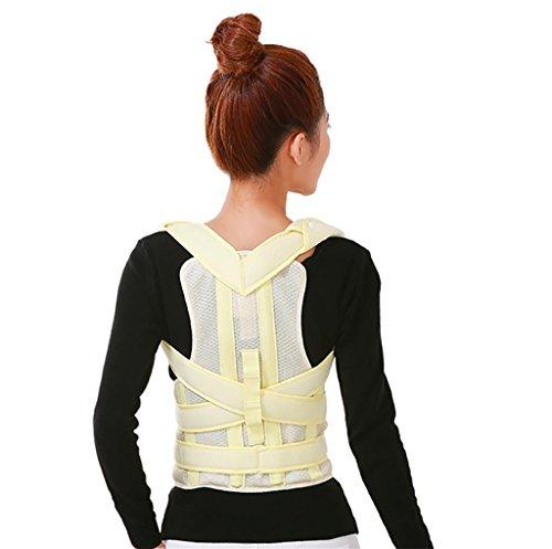 JZLV Adjustable Therapy Back Support Braces Belt Band Posture Shoulder Corrector for Fashion Health , l by JZL (Image #6)