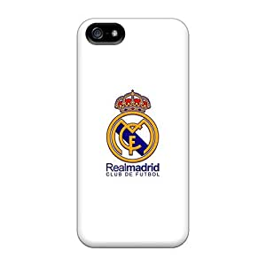 Bumper Cell-phone Hard Covers For Iphone 5/5s With Custom Fashion Real Madrid Cf Series LauraAdamicska