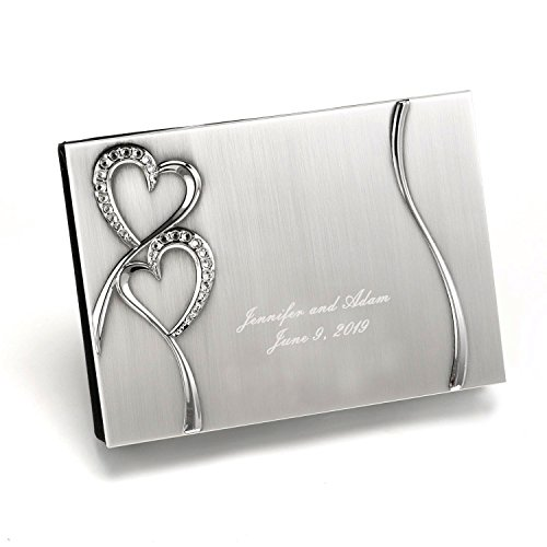 Personalized and Engraved Hortense B. Hewitt Sparkling Love Wedding Guest Book (Engraved Wedding Guest Book)