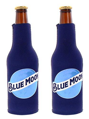 Kolder Licensed Beer Can Bottle Neoprene Beverage Huggie Holders (Blue Moon - Bottle Suit 2-Pack)