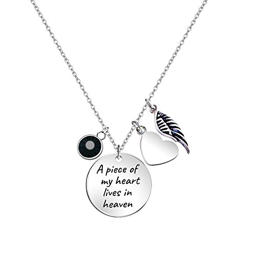 c7b8340e969b Paris Selection Memorial Necklace A Piece of My Heart Lives in Heaven  Necklace In Memory