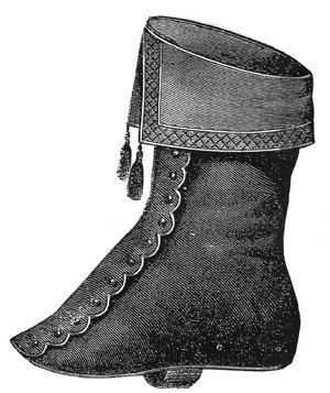 Civil War Colonel Costumes (1868 Ladies Overshoe Pattern)