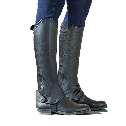 - Horze Leather Half Chaps - Black - Small