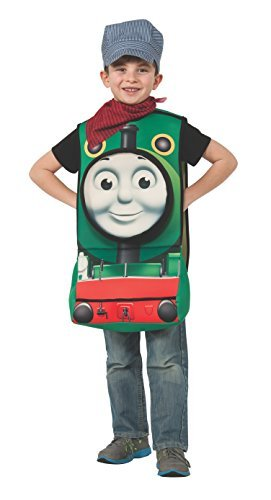 Thomas 3d Costume (Rubies Thomas and Friends Deluxe 3D Percy The Small Engine Costume, Toddler by Rubie's)