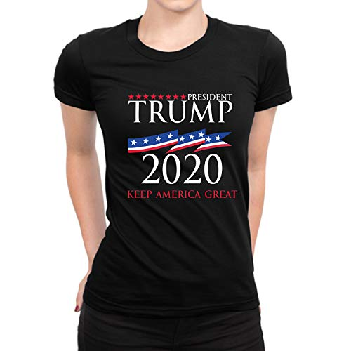 - Miracle(Tm) Trump 2020 USA Women Shirt - Womens Keep America Great Republican T Shirt (S)