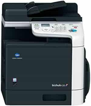 Konica Minolta BizHub C25 Color Laser Multifunction Printer - 25ppm, Copy, Print, Scan, Fax, ADF, 1 Tray
