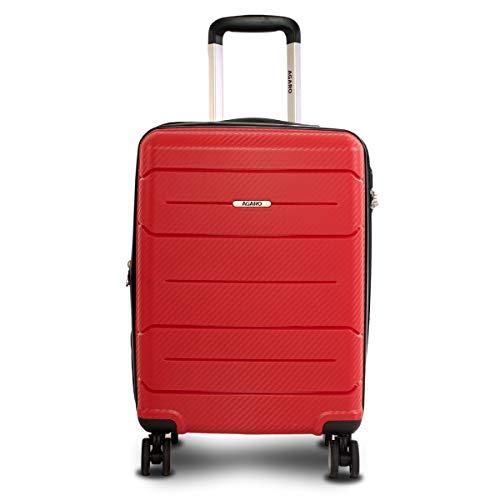 AGARO Venus Hard-Sided Polypropylene Cabin Luggage/Trolley Bag (20 Inch / 50 cm), Red