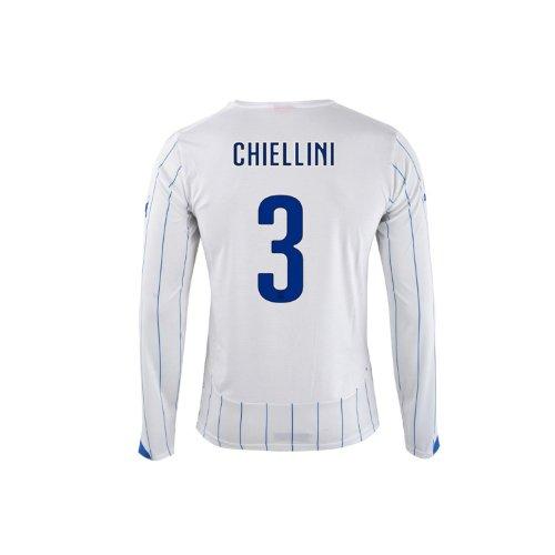 群集破産スペインPUMA CHIELLINI #3 ITALY AWAY JERSEY WORLD CUP 2014 (Long Sleeve)/サッカーユニフォーム イタリア アウェイ用 長袖 ワールドカップ2014 背番号3 キエッリーニ
