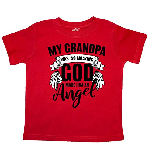 inktastic My Grandpa was So Amazing God Made Him an Toddler T-Shirt 5/6T Red -