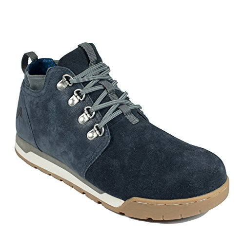 Forsake Freestyle - Mens Casual Leather Slip-On Sneakerboot Navy nlB9l
