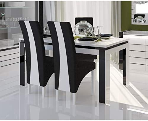 Table 180 cm + 6 chaises LINA. Table pour salle à manger