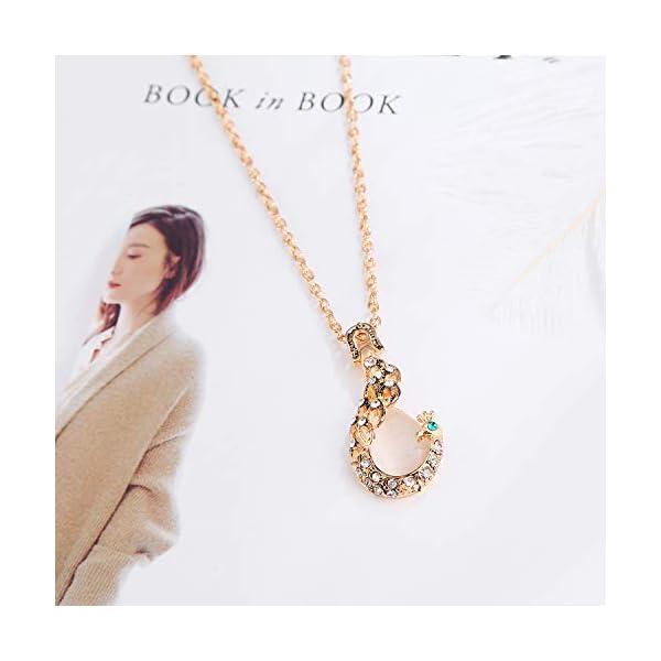 ASHMITA Rose Gold Teardrop Necklace Gemstone Dangle Earrings Wedding Jewelry Set