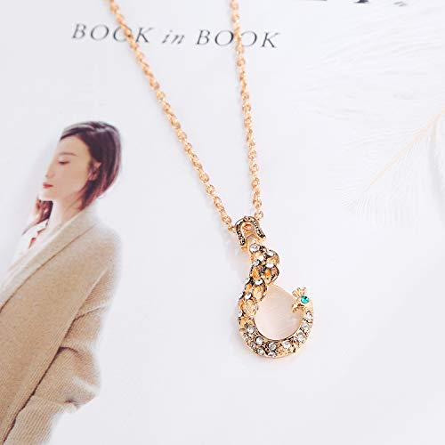Buy peacock necklace long