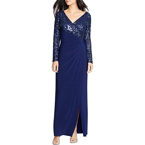 Ralph Lauren Long Evening Sequined Elegant Dress Size 2