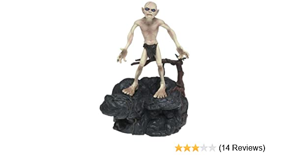 LORD OF THE RINGS GOLLUM SMEAGOL /& ROCK ACTION FIGURE TOYBIZ SERIES TWO TOWERS